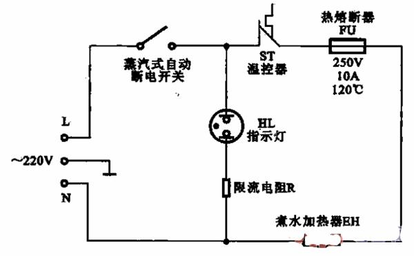 电热水壶的温度检测控制电路