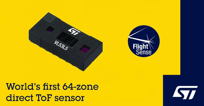 意法半导体推出世界首个多合一的多区直接ToF传感器模块