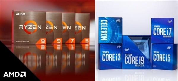 2020年AMD处理器畅销排名垄断前十一名