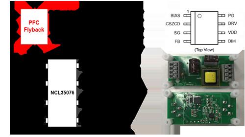 基于NCL35076或NCL30076的高能效、高精度、高可靠性的可调光LED照明降压方案