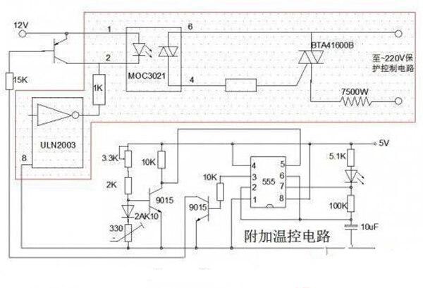 即热式热水器自动恒温实验电路图