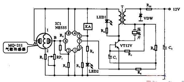 电路图原理:抽油烟机自动控制电路图