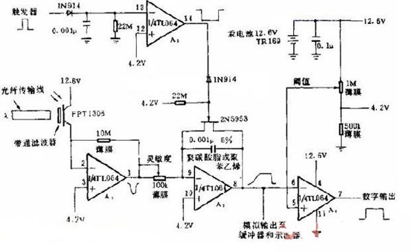 光传输检测的电路图