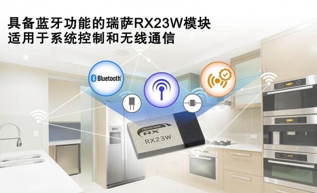 瑞萨电子推出适用于物联网设备的系统控制与无线通信的RX23W模块